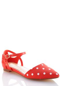 Polka Dot Pointy Flats