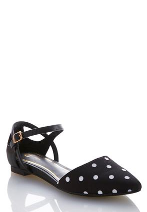 Wide Width Polka Dot Pointy Flats at Cato in Brooklyn, NY | Tuggl