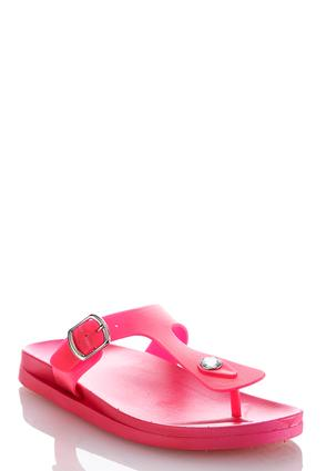 Jelly Thong Sandals | Tuggl