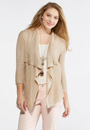 Plus Size Waterfall Cardigan Sweater