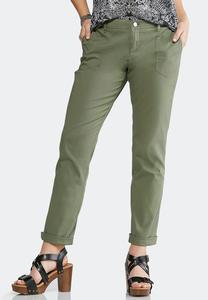 Girlfriend Chino Ankle Pants