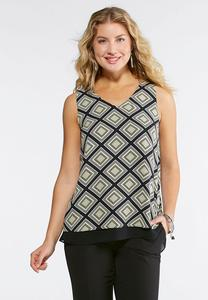 Dotted Diamond Layering Tank-Plus