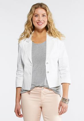Sateen Blazer- Plus
