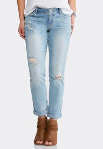 Distressed Everyday Girlfriend Jeans