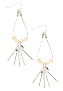 Beaded Dangling Bar Earrings