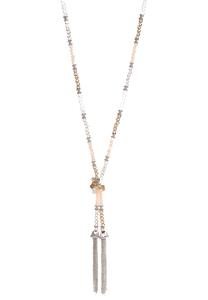 Rondelle Bead Tassel Necklace