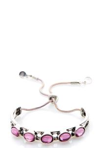 Gemstone Metal Pull-String Bracelet