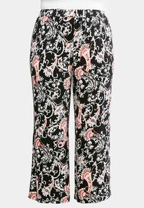 Plus Size Elegant Bloom Palazzo Pants