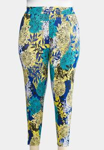 Plus Size Cropped Bold Bloom Leggings