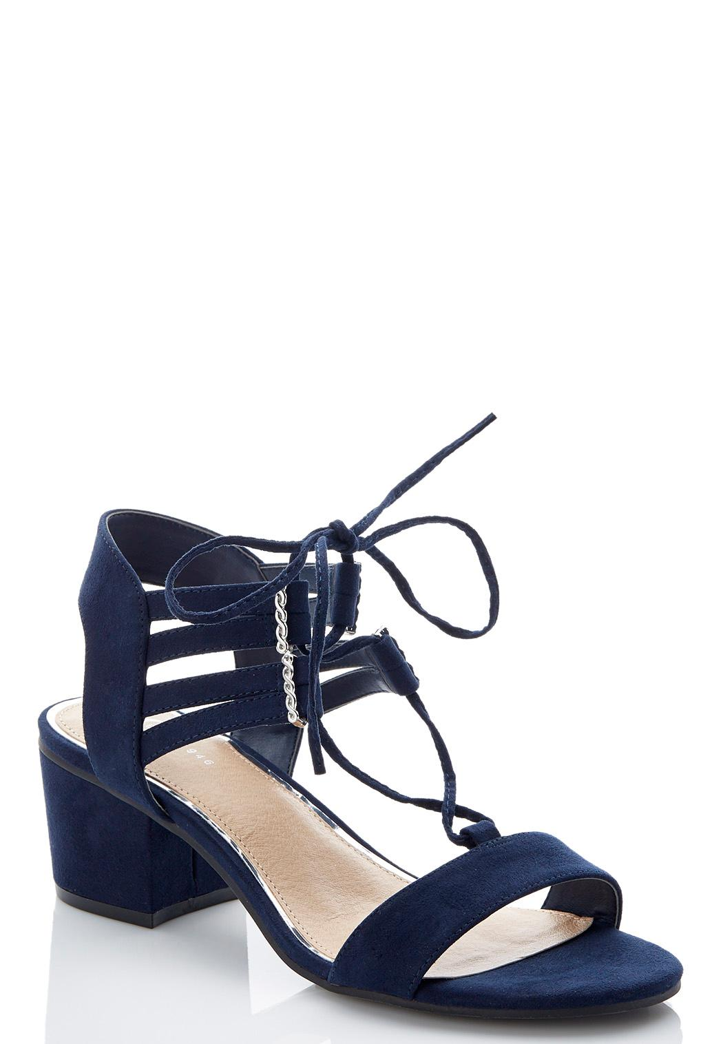 Lace Up Block Heel Sandals Heels Cato Fashions - What is commercial invoice shoe stores online