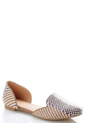 Woven Two Piece Flats | Tuggl