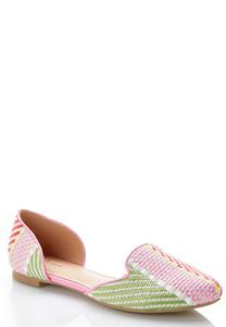Wide Width Woven Two Piece Flats