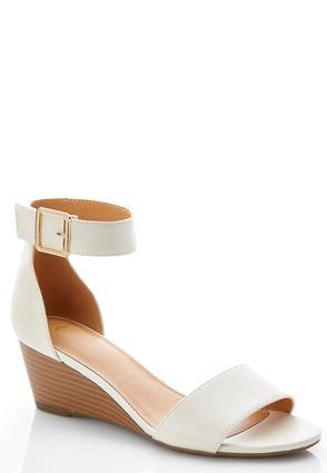Wide Width Ankle Strap Wedge Heels | Tuggl