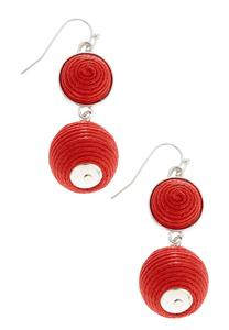 Tiered Wrapped Ball Earrings