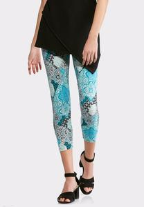 Cropped Medallion Leggings