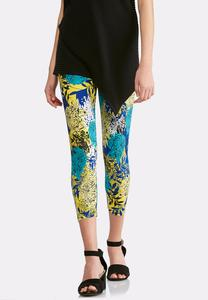 Cropped Bold Bloom Leggings