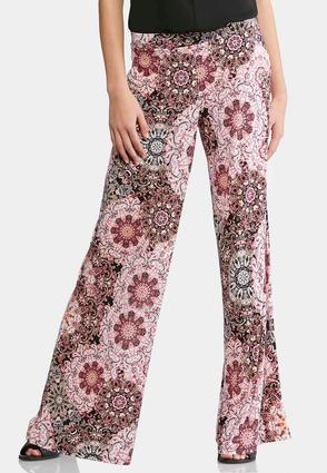 Floral Burst Palazzo Pants-Petite at Cato in Lewisburg, TN | Tuggl