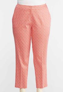 Trellis Stretch Slim Ankle Pants-Plus