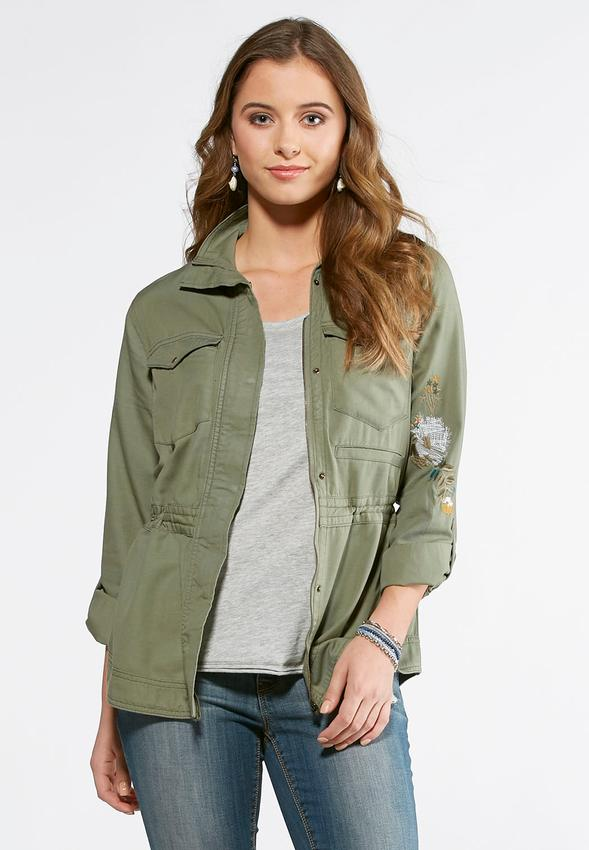 Black lace jacket size 24