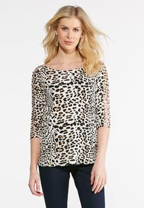 Cheetah Vented Sleeve Top