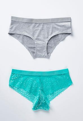 Lace And Heather Panty Set