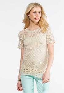 Asymmetrical Open Stitch Sweater