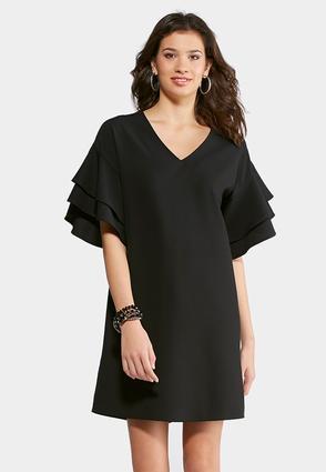 Tiered Ruffle Sleeve Dress | Tuggl
