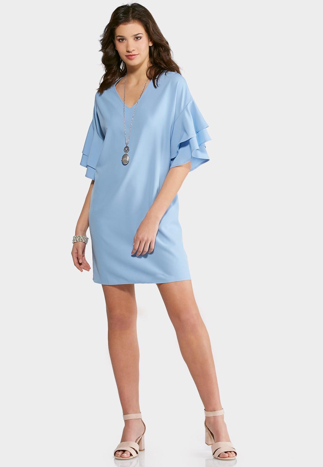 Plus Size Tiered Ruffle Sleeve Dress Plus Sizes Cato Fashions