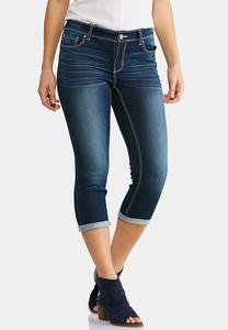 Cropped Dark Wash Jeans