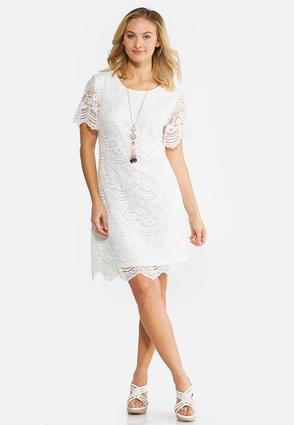 Scalloped Lace Dress | Tuggl
