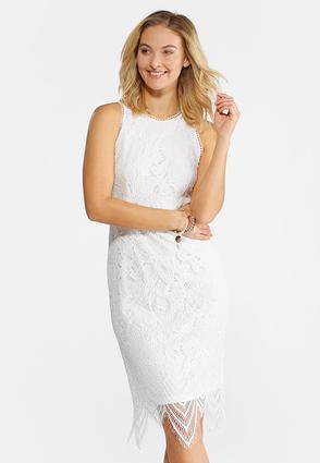 Scalloped Lace Midi Dress