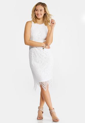 Plus Size Scalloped Lace Midi Dress | Tuggl