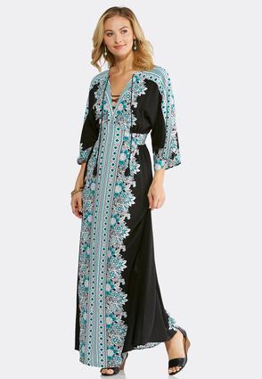 Petite Kimono Sleeve Maxi Dress | Tuggl
