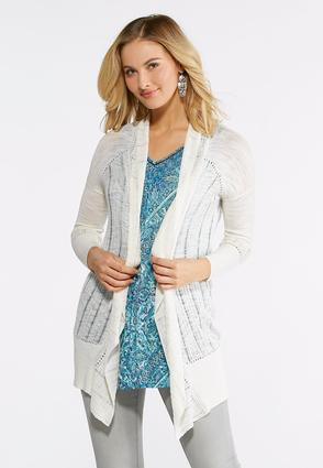 Breezy Stitch Cardigan Sweater