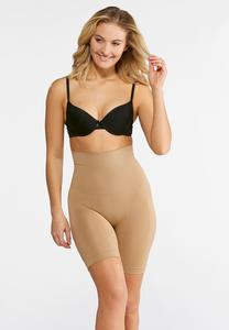 Nude Seamless High Waist Shorts