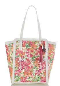Floral Palm Large Tote