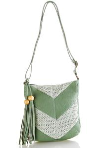 Crochet Inset Crossbody