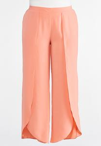 Plus Size Solid Tulip Pants