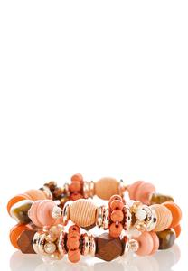 Chunky Mixed Bead Stretch Bracelet Set