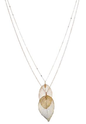Layered Dye Gold Leaf Necklace at Cato in Brooklyn, NY | Tuggl