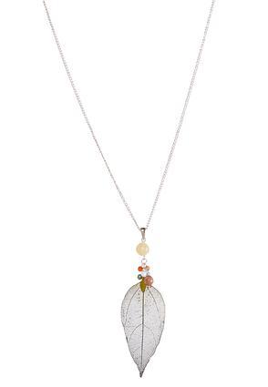 Beaded Dye Leaf Necklace | Tuggl