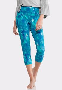Cropped Tie Dye Leggings