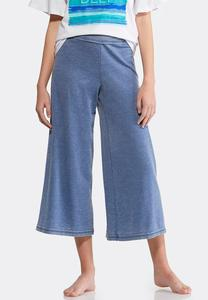 Cropped Wide Leg Athleisure Pants