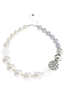 Chunky Mixed Bead Pearl Necklace