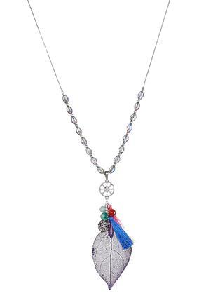 Dark Purple Dye Leaf Necklace | Tuggl