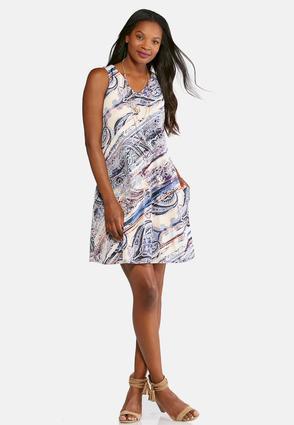 Brushed Mixed Paisley Dress | Tuggl