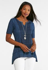 Ribbed Crochet Top-Plus