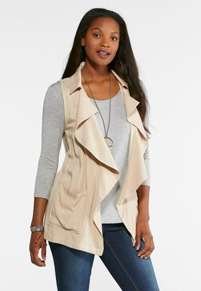 Plus Size Waterfall Drape Vest