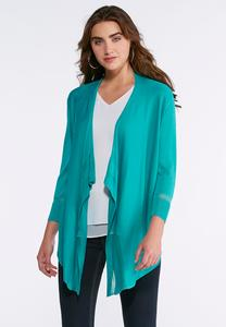 Sheer Illusion Waterfall Cardigan