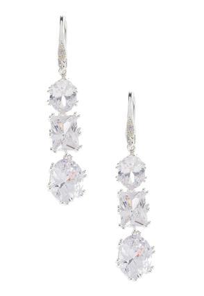 Triple Rhinestone Dangle Earrings | Tuggl